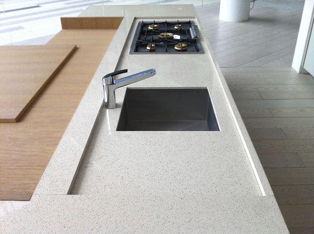 graniglio: superficie cucina sabbia