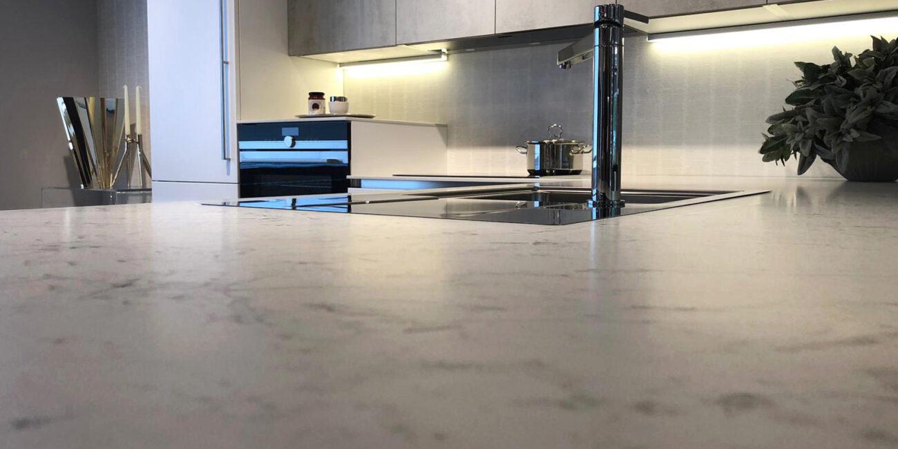 kerit: cucina marmo carrara