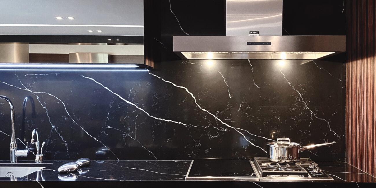 marmorea: piano lavoro cucina nero
