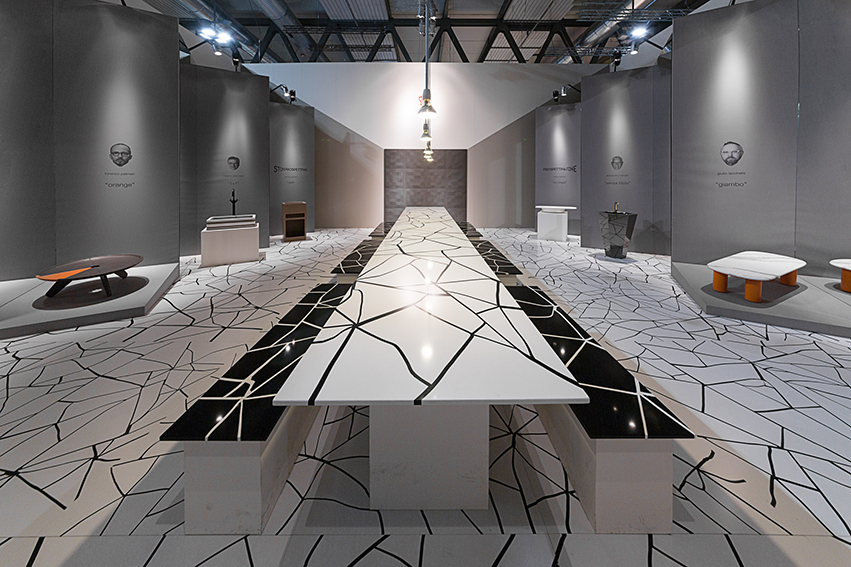 craken: tavolo bianco e nero