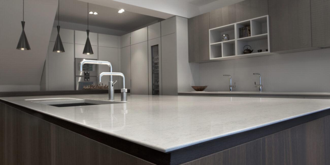 kstone: gloss cucina piano lavoro bianco