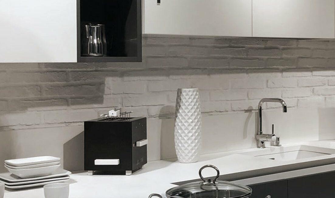 materia: cucina con design superwhite rocface