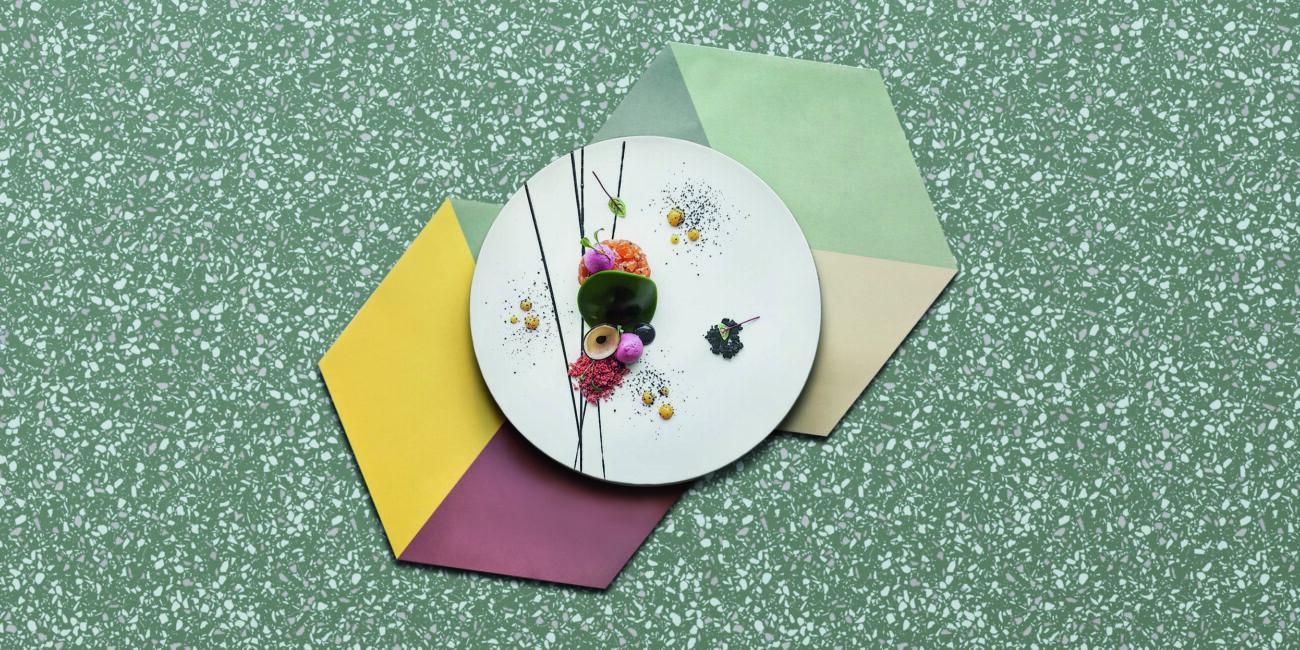 terrazzo: materiale green grain