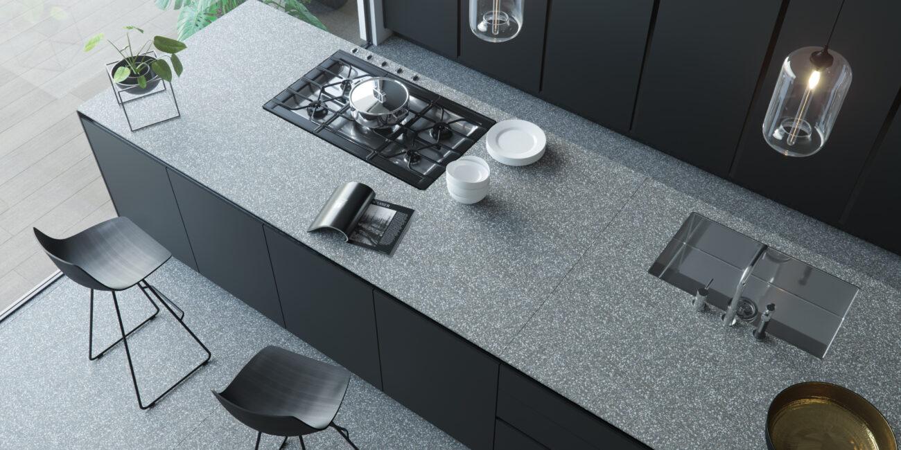 terrazzo: piano cottura grey grain