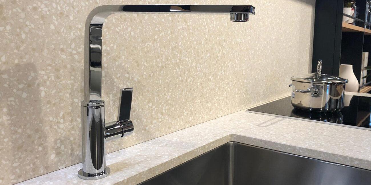 terrazzo: lavello white grain